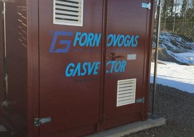 l'iniezione di gas nella rete urbana